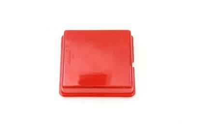 Rødt baglygteglas