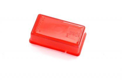 Rød baglygteglas