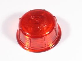 Rødt glas, rund 60mm t.P0652/84
