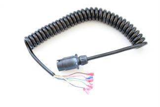 El-kabel. spiral m/1 stk. han-stik