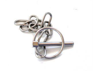 Ringsplit m/kæde - rustfrit stål